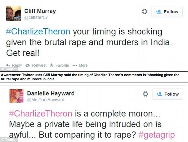 Charlize Theron 'I feel raped'
