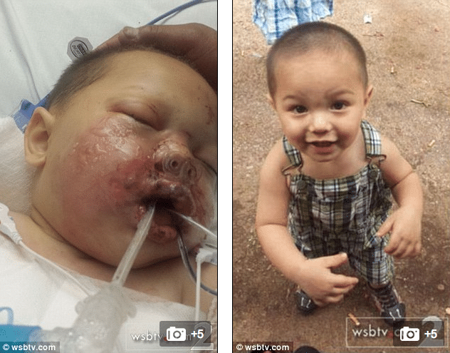Swat team throws a stun grenade into toddler's crib