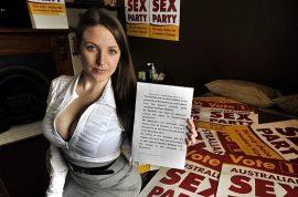Australian porn star Angela White films sexual romp at La Trobe University library
