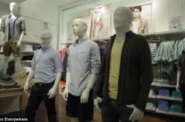 Prank group Improv Everywhere stages mannequin flash mob at Manhattan Gap
