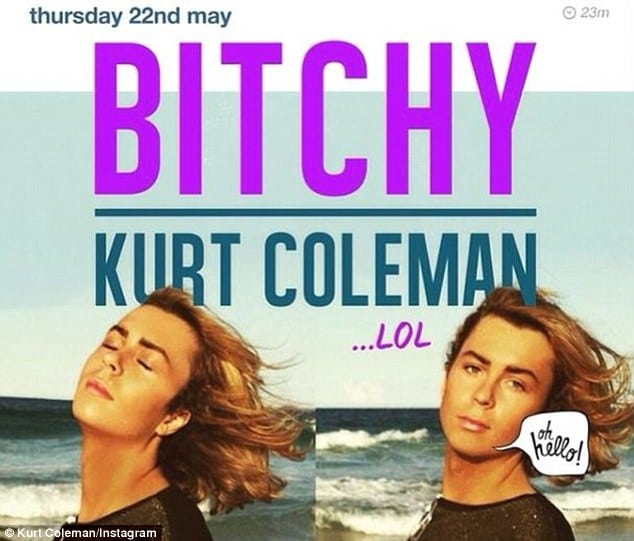 Australia's self loving Kurt Coleman mother defends her son