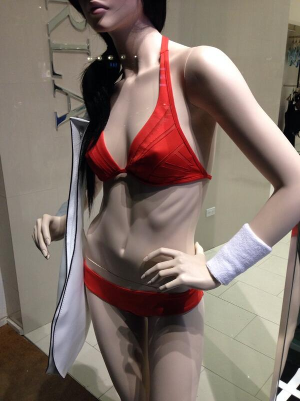 La Perla rib showing mannequin
