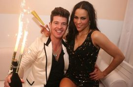 Did a three way between Robin Thicke, his wife and their masseuse lead to break up?