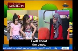 Fun Palestinian tv show encourages children to kill all Jews.