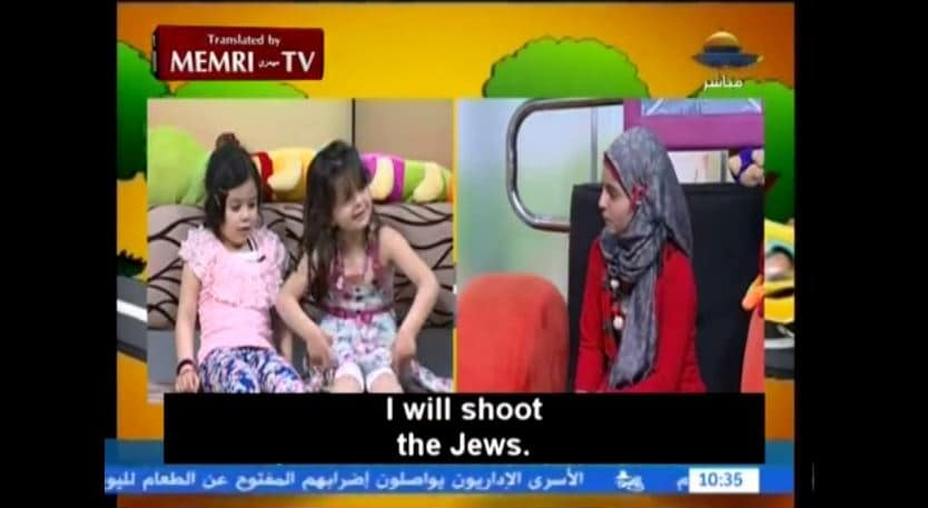 Palestinian tv show encourages children to kill Jews