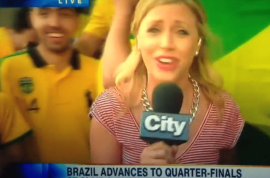 Brazil fan scream 'fxck her right in the pussy' on live World Cup report