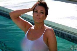 Kris Jenner topless wet t-shirt romp mortifies Kim Kardashian
