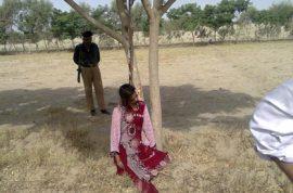 NSFW: Muzammil Bibi, Pakistani woman gang raped and hanged from a tree