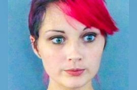 Kayla Oxenham brands her two children with hot stick so she could tell they were hers.