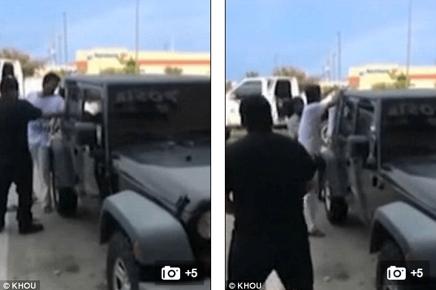 Texas Mall shoppers smash car window to save children in hot car