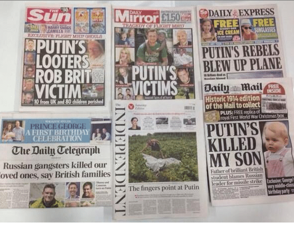 Malaysia Airlines MH17 Media bias