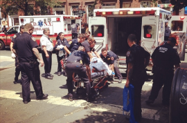Charles Mozdir, sex offender on the run killed in NYC shoot out. 3 injured.