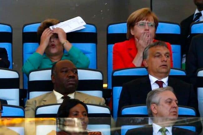 German Chancellor Angela Merkel World Cup