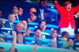 German Chancellor Angela Merkel World Cup pictures. Beloved fan.