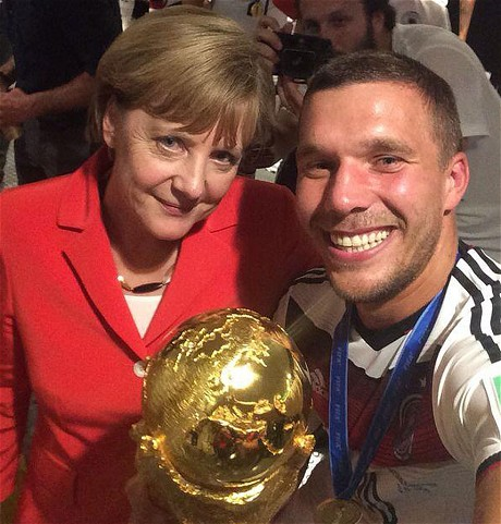 German Chancellor Angel Merkel World Cup