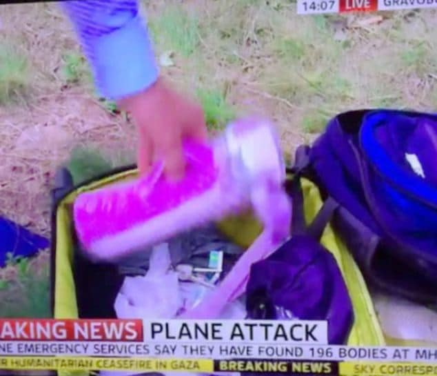 Colin Brazier MH17 victim's luggage