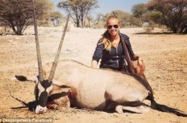 Axelle Despiegelaere cut by L'Oreal over hunting pictures.