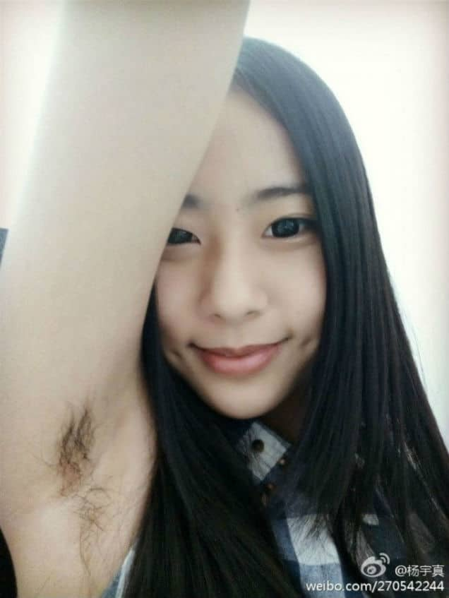 Chinese women are now tweeting pictures of their armpit hair