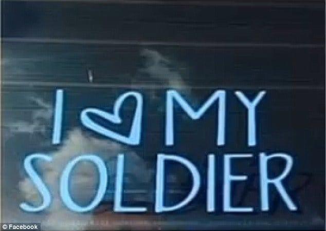 Ellen Wilson's 'I love my soldier' bumper sticker