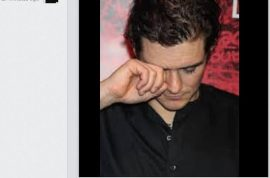 Justin Biber instagrams photo of Orlando Bloom crying. Low blow…