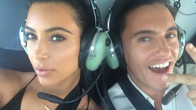 Kim Kardashian instagrams from helicopter