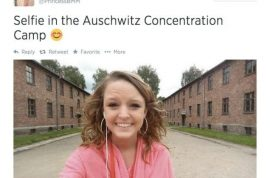 @PrincessBMM, Breanna Mitchell Auschwitz concentration selfie leads to mass hate