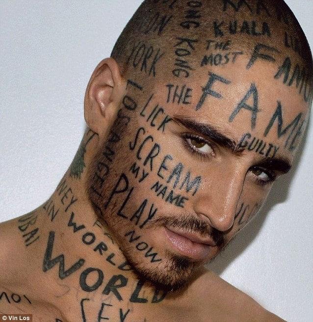 Vin Loss Canadian model tattoos