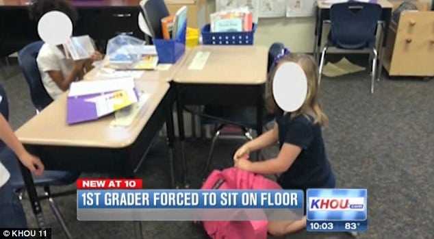 Texas first grader forced to sit on floor