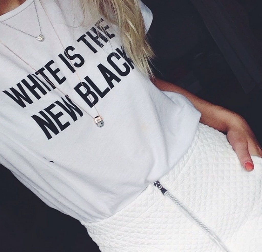 Zara's White is the new black t shirt racist