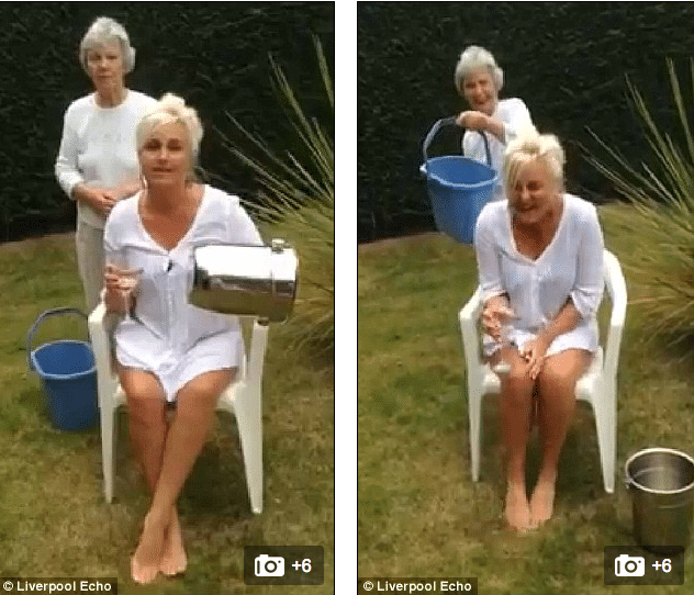 Amanda Davey breaks her neck during ice bucket challenge
