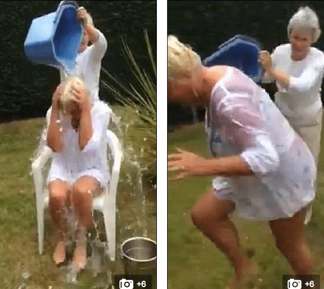 Amanda Davey breaks her neck during ice bucket challenge