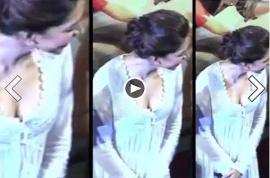 Bollywood actress Deepika Padukone breast cleavage shot turmoil