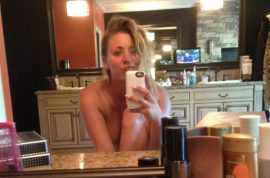 (NSFW) Kaley Cuoco leaked naked pictures and video.