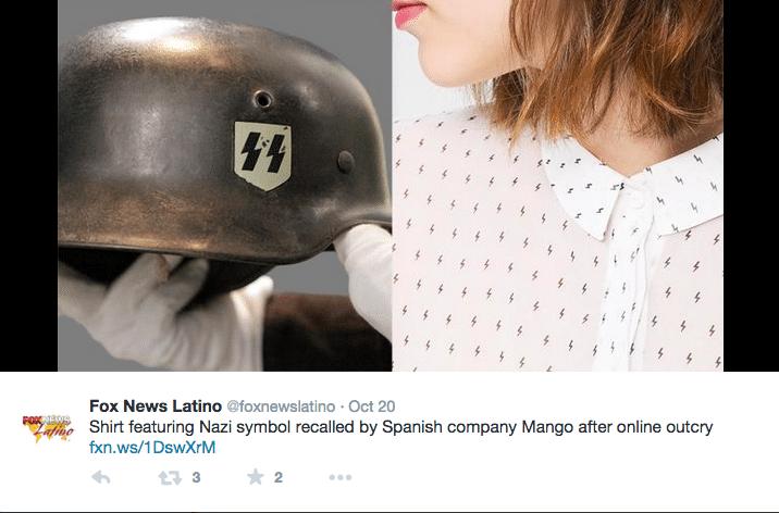 Mango apologize for anti semitic insignia like shirts
