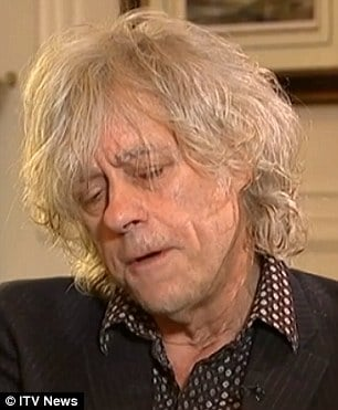 Bob Geldof blames himself for Peaches Geldof's death