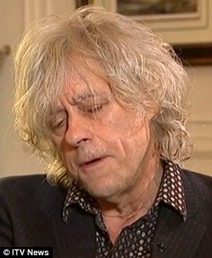 Bob Geldof blames himself for Peaches Geldof's death
