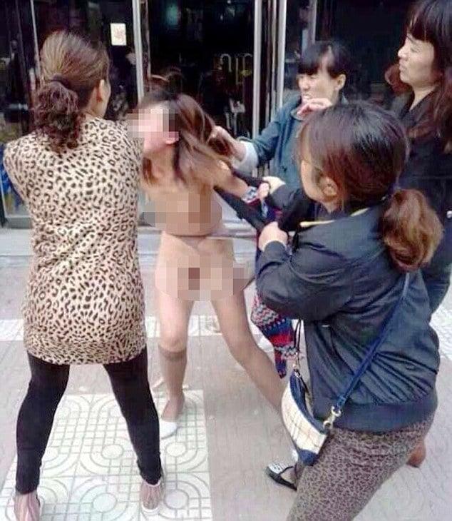 Lin Yao Li stripped and beaten