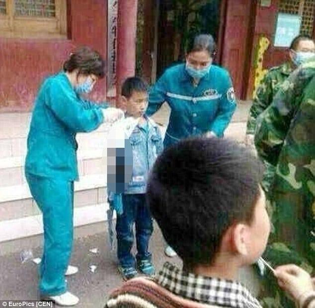 Bear bites Chinese boy's arm off