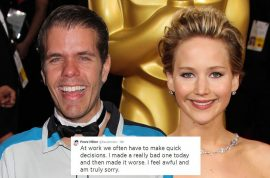 Jennifer Lawrence naked 4chan fake spat with Perez Hilton