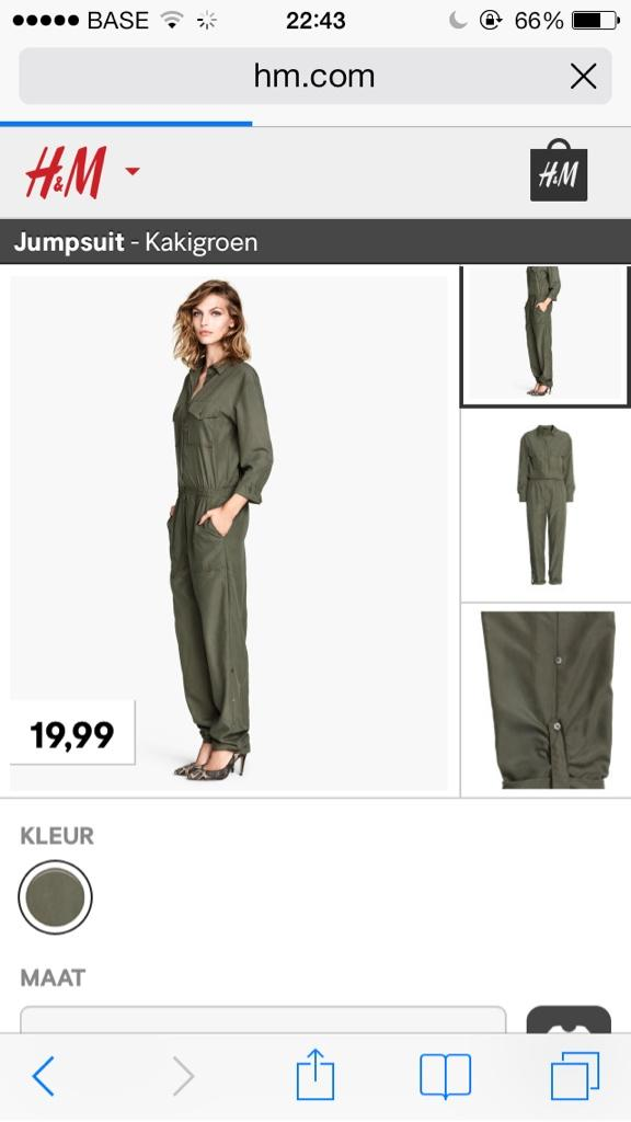 H&M Kurdish female fighter Khaki jumpsuit