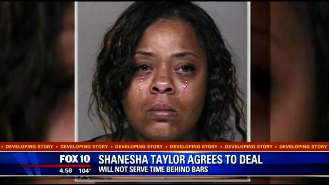 Shanesha Taylor broke