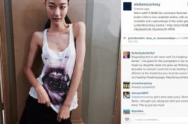 Stella McCartney skeleton chic model causes uproar. Define healthy?