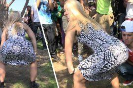 Jessica Vanessa twerking herself to a six figure income. 'I'm rich bixch'