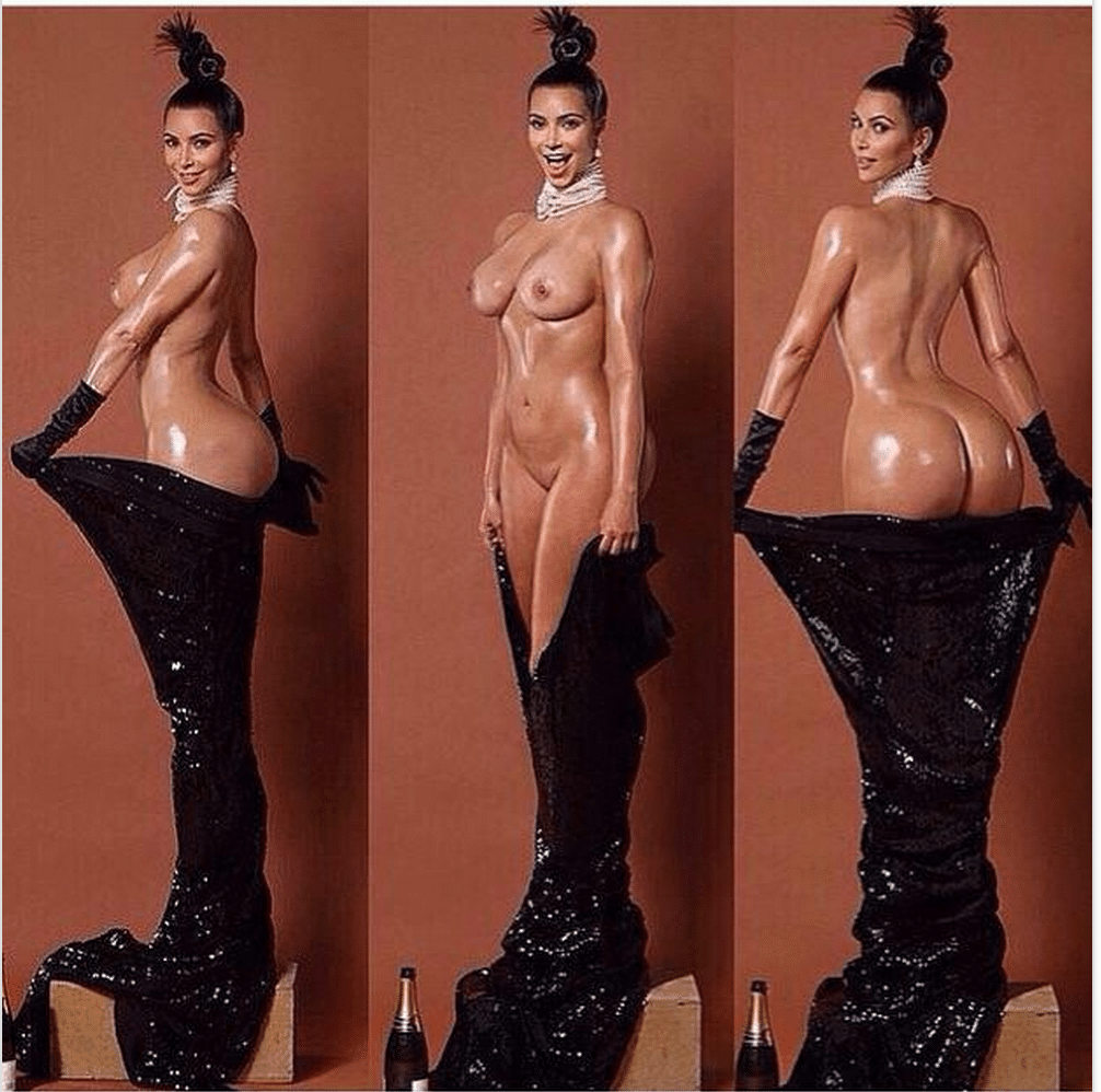 Kim Kardashian naked Paper magazine
