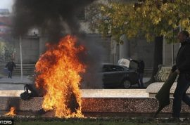 Why did Lidia Petrova, Bulgarian woman set herself on fire? 90% burns.