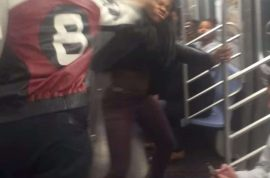 F train Video: Man smacks the soul out of girl on the NY Subway. 4 arrested