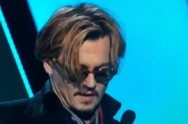Was Johnny Depp very drunk during the Hollywood Film Awards?