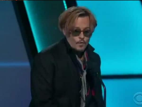 Johnny Depp drunk