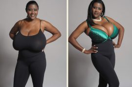 Kerisha Mark. The agony of 36NNN breasts. Breast reduction a must.