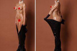 NSFW: Kim Kardashian naked full frontal vagina photos via Papermag